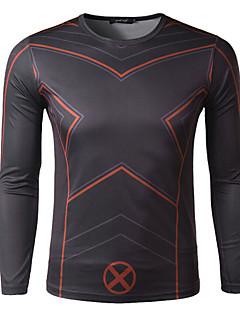 tanie Bielizna i odzież termoaktywna-Męskie Długi rękaw Koszulka rowerowa - Czarny Rower Szybkie wysychanie, Oddychający / Elastyczny / a