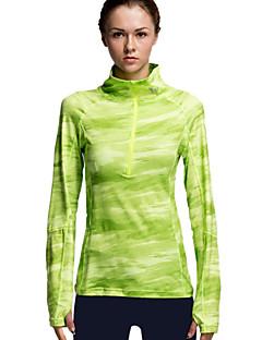 billiga Träning-, jogging- och yogakläder-Vansydical® Dam T-shirt för jogging sporter Rand, Mode T-shirt / Överdelar Långärmad Sportkläder Kompression, Lättviktsmaterial,