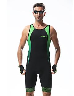 billige Sykkelbukser,Shorts,Strømpebukser, Tights-SANTIC Herre Triathlondrakt Sykkel Triatlon 3D Pute, Pustende Lapper Grønn Sykkelklær / Avanserte sømteknikker