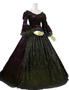 billiga Lolitamode-Gotisk Lolita Steampunk® Victoriansk Spets Dam Klänningar Cosplay Långärmad Lång längd Halloweenkostymer