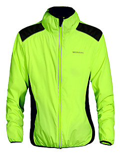 cheap Cycling Jackets-WOSAWE Unisex Cycling Jacket Bike Jacket / Top Quick Dry, Windproof, Breathable Green Bike Wear