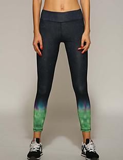 Yogabukser Bukser Tights Leggings Bunner Pustende Fort Tørring Komprimering Lettvektsmateriale Naturlig Høy Elastisitet Drakter DameYoga