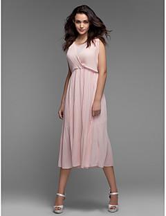 Χαμηλού Κόστους -0.9-Γυναικεία Φαρδιά Φόρεμα - Μονόχρωμο, Δαντέλα Δίχτυ