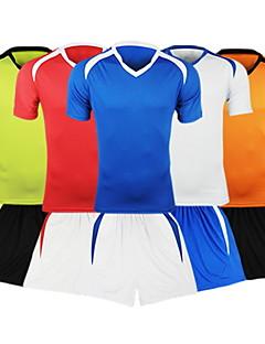 baratos Futebol camisas e Shorts-Futebol - Conjuntos de Roupas/Ternos ( Azul Céu ) - Homens - Respirável - Manga Curta
