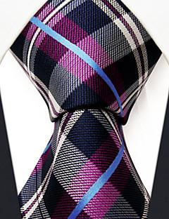 Bărbați Plisat Birou Celofibră,Cravată Mov