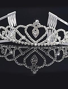 お買い得  ティアラ-合金 フラワー  -  ティアラ 帽子 1個 結婚式 パーティー かぶと