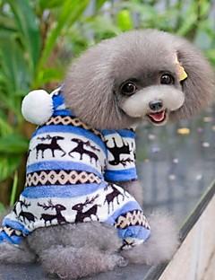billiga Hundkläder-Hund Jumpsuits / Pyjamas Hundkläder Snöflinga Brun / Röd / Blå Polär Ull Kostym För husdjur Herr / Dam Ledigt / vardag