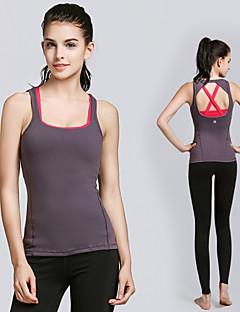 billiga Träning-, jogging- och yogakläder-Dam Öppen Rygg Yoga Top - Vit / Svart, Röd + Grå sporter Mode Modal Linne / Överdelar Pilates, Motion & Fitness, Löpning Ärmlös