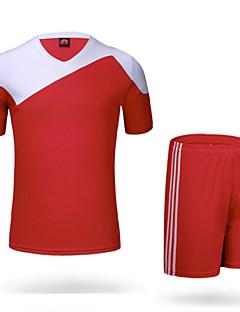 Homme Football Shirt + Shorts Ensemble de Vêtements Séchage rapide Respirable Matériaux Légers Printemps Eté Hiver Automne Classique