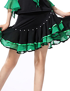 Latin Dance Dresses&Skirts Women's Performance Spandex Polyester Ruffles 1 Piece Skirt