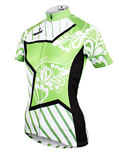 cheap Cycling Jerseys-ILPALADINO Women's Short Sleeves Cycling Jersey - Green Bike Jersey, Quick Dry, Ultraviolet Resistant, Breathable