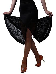Latein-Tanz Unten Kleider & Röcke Röcke Damen Vorstellung Training Milchfieber Spitze 1 Stück Normal Rock