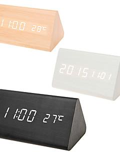 ieftine Ceasuri Din Lemn De Perete-Ceas deșteptător Piloane de Menținut Carnea Lemn LED 1pcs