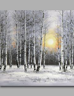 tanie Pejzaże abstrakcyjne-Ręcznie malowane Krajobraz Kwadrat, Nowoczesny Brezentowy Hang-Malowane obraz olejny Dekoracja domowa Jeden panel