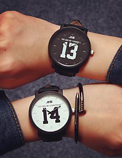billige Par Ure-Par Quartz Armbåndsur Læder Bånd Vedhæng / Mode