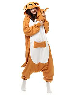 Kigurumi Pyjamas Kenguru Kostume Oransje Polar Fleece Syntetisk Fiber Trikot / Heldraktskostymer Festival / høytid Pysjamas med dyremotiv