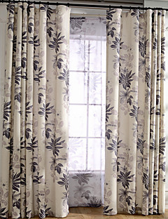 billige Gardiner-Stanglomme Propp Topp Fane Top Dobbelt Plissert Blyant Plissert To paneler Window Treatment Moderne Europeisk Middelhavet Neoklassisk Land