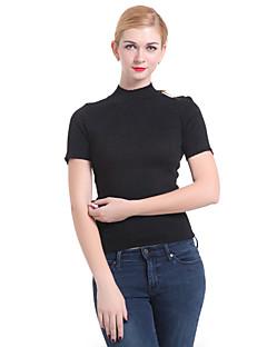 billige Damemode og tøj-Dame Basale Pullover - Ensfarvet