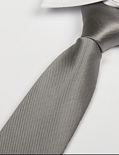 Men's Necktie,Party Work Casual Solid All Seasons Gray