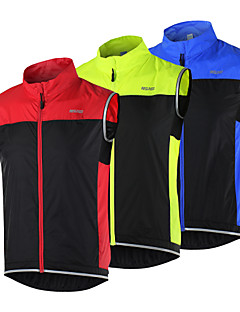 cheap Cycling Clothing-Arsuxeo Cycling Vest Men's Women's Unisex Bike Vest/Gilet Windbreaker Jacket Top Bike Wear Quick Dry Windproof Breathable Reflective