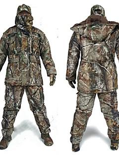 baratos Roupas de Caça-Jaqueta com Calça de Caçador Homens Prova-de-Água Térmico/Quente Resistente ao Choque camuflagem Moderno Clássico Jaqueta de Inverno
