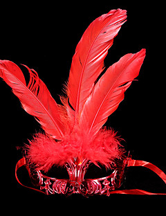 cheap Halloween Masks-Carnival Mask Masquerade Unisex Halloween Carnival Festival / Holiday Halloween Costumes Blue Gold Red Purple Rose Solid