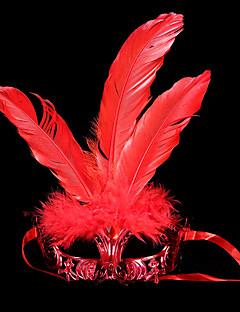 billige Masker-Karneval Maske Maskerade Herre Dame Halloween Karneval Festival / høytid Drakter Rød / Lilla / Rose Ensfarget