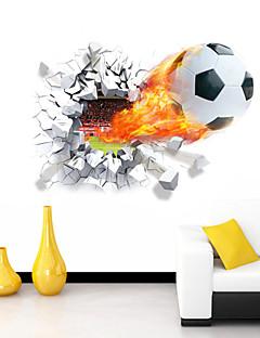 hesapli Çizgi Film Duvar Çıkartmaları-Romantizm Karton Spor 3D Duvar Etiketler 3D Duvar Çıkartması Dekoratif Duvar Çıkartmaları, Vinil Ev dekorasyonu Duvar Çıkartması Duvar