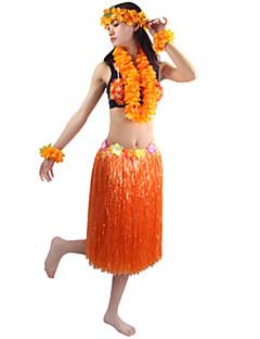 billige Halloweenkostymer-Hawaiisk Cosplay Kostumer / Party-kostyme Herre / Dame Halloween / Karneval Festival / høytid Halloween-kostymer Grønn / Blå / Regnbue Ensfarget