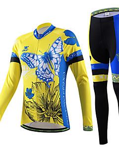 cheji® Calça com Camisa para Ciclismo Mulheres Manga Longa Moto braço aquecedores Camisa/Roupas Para Esporte Conjuntos de Roupas Secagem