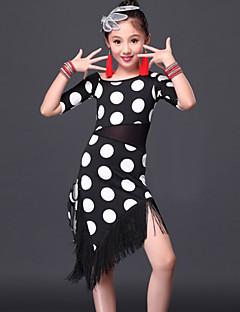 Latein-Tanz Kleider Kinder Vorstellung Milchfieber 2 Stück Kleid Unterhose