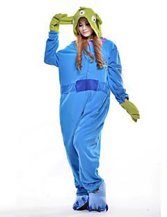 billige Kigurumi-Kigurumi-pysjamas Blå Monster Monster Onesie-pysjamas Kostume Polar Fleece Cosplay Til Voksne Pysjamas med dyremotiv Tegnefilm Halloween