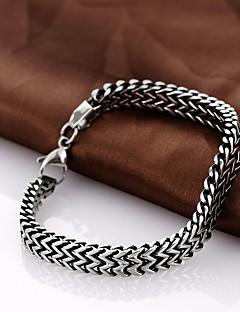 Χαμηλού Κόστους Jewelry and Watch Clearance-1pc Βραχιόλια με Αλυσίδα & Κούμπωμα - Μοναδικό Βίντατζ Πάρτι Γραφείο Καθημερινό Μοντέρνα Άλλα Μαύρο Βραχιόλια Για Χριστουγεννιάτικα δώρα