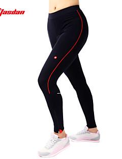billige Sykkelbukser,Shorts,Strømpebukser, Tights-TASDAN Dame Sykkeltights Sykkel Bukser / Tights / Fôrede shorts 3D Pute, Fort Tørring, Pustende Ensfarget Nylon, Silikon Svart Sykkelklær