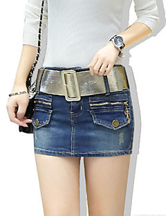 Χαμηλού Κόστους Mini Skirt-Γυναικεία Εφαρμοστό Κομψό στυλ street Φούστες - Μονόχρωμο