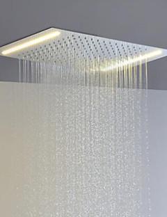 aço inoxidável 304 110V ~ 220V alternada atual chefe chuva chuveiro casa de banho com a poupança de energia lâmpadas led