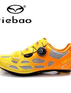 billiga Cykling-Tiebao® Herr Skor för vägcykel Nylon Cykling / Cykel Vattentät, Anti-halk, Stötdämpande Syntetiskt Microfiber PU Orange / Grön / Blå