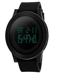 Pánské Náramkové hodinky Digitální hodinky LED Voděodolné Křemenný Digitální Pryž Kapela Luxusní Černá