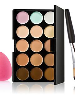 15 Concealer/konturPulver Puff/Skønhedsblender Makeupbørster Våd AnsigtDekning Blegende Længerevarende Concealer Ujævn hud Naturlig Andre