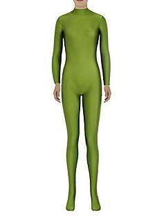 Costume Zentai Morphsuit Ninja Zentai Costume Cosplay Verde 纯色 Leotard/Onesie Zentai Spandex Lycra Unisex Halloween Crăciun