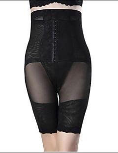 Ženy Korzet pod prsa / Větší velikosti Noční prádlo Jednobarevné-Bavlna / Nylon / Polyester / Spandex Béžová / Černá Dámské