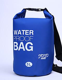 5 L Vízálló Dry Bag Vízálló zsák Vízálló Púdertartó mert Kerékpározás/Kerékpár Kempingezés és túrázás