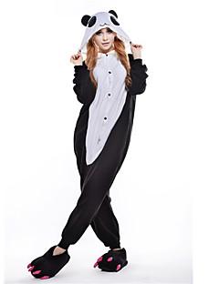 billige Kigurumi-Voksne Kigurumi-pysjamas Panda Onesie-pysjamas Kostume Polar Fleece Svart Cosplay Til Pysjamas med dyremotiv Tegnefilm Halloween Festival / høytid / Jul