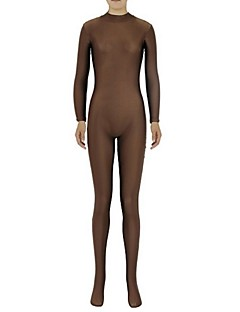 Zentai Suits Ninja Zentai Cosplay Costumes Brown Solid Leotard/Onesie Zentai Spandex Lycra Unisex Halloween