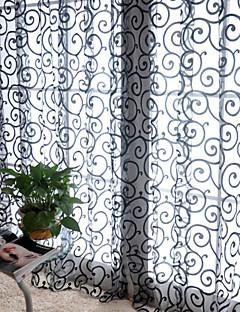 billige Gjennomsiktige gardiner-Stanglomme Et panel Window Treatment Land, Trykk Stue Polyester Materiale gardiner gardiner Hjem Dekor