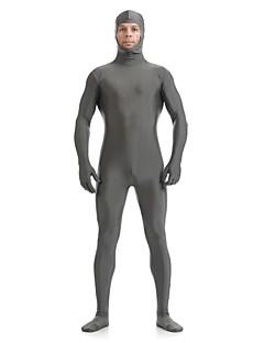 billige Zentai-Zentai Drakter Ninja Zentai Cosplay-kostymer Grå Ensfarget Trikot / Heldraktskostymer Zentai Spandex Elastan Herre Dame Halloween