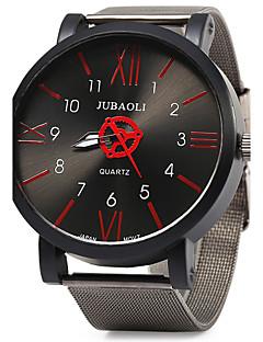 billige Høj kvalitet-JUBAOLI Herre Quartz Armbåndsur Stor urskive Rustfrit stål Bånd Vintage Mode Sej Sort