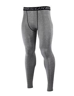 tanie Bielizna i odzież termoaktywna-Arsuxeo Męskie Długi rękaw Koszulka rowerowa typu base layer - Black Gray Ciemno niebieski Light Green Rower Rajstopy rowerowe Spodnie,