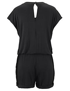 billige Jumpsuits og sparkebukser til damer-Dame Klassisk & Tidløs Sparkedrakter - Ensfarget Helfarge, Klassisk Stil