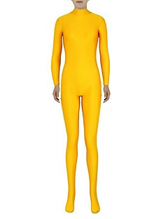 Zentai Suits Ninja Zentai Cosplay Costumes Yellow Solid Leotard/Onesie Zentai Spandex Lycra Unisex Halloween